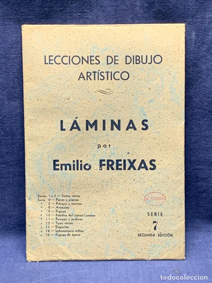 Arte: 7 SERIES LAMINAS DIBUJO ARTISTICO EMILIO FREIXAS LECCIONES DIBUJO ARTISTICO 27X18CMS - Foto 179 - 265161059