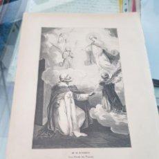 Arte: ANTIGUA LAMINA GRABADO RELIGIOSO SANTORAL SAN FÉLIX DE VALOIS 20 NOVIEMBRE. Lote 266887334