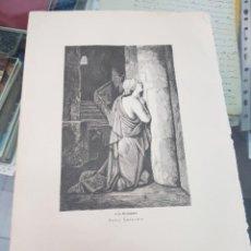 Arte: ANTIGUA LAMINA GRABADO RELIGIOSO SANTORAL SANTA LEOCADIA 9 DICIEMBRE. Lote 266889124