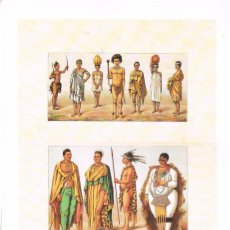 Arte: LAMINA REPRODUCCIÓN ANTIGUO GRABADO. AFRICA, INDUMENTARIA, MEDIDAS 34,5 X 25 CMS.. Lote 267013629