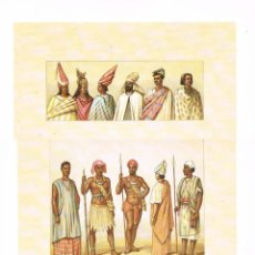 Arte: LAMINA REPRODUCCIÓN ANTIGUO GRABADO. AFRICA, INDUMENTARIA, MEDIDAS 34,5 X 25 CMS.. Lote 267013834