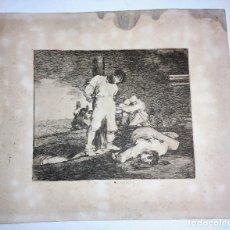 Arte: IMPRESIÓN Y NO HAI REMEDIO DE GOYA. Lote 267479479