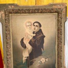 Arte: ANTIGUO Y GRAN CUADRO RELIGIOSO DE LAMINA!. Lote 268937799