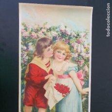 Arte: LAMINA DE NIÑOS Y FLORES. MODERNISTA. AÑOS 30?. R. ALCALÁ. Nº 3704. HECHO EN ESPAÑA. Lote 269133233