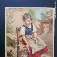 Arte: GIJÓN. ESPECTACULAR LAMINA DE NIÑA,PARA ENMARCAR. AÑOS 30?.ARTES GRÁFICAS GIJÓN. Nº 12. Lote 269139183