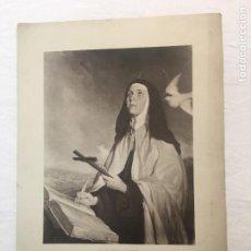 Arte: LÁMINA. SANTA TERESA DE JESÚS DE SOTOMAYOR. FIRMA A PLUMA DEL PINTOR. AÑOS 30.. Lote 269508153