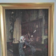 Arte: JAMES JACQUES-JOSEPH TISSOT(1836-1902). CON MARCO 65X51CM. Lote 270146878