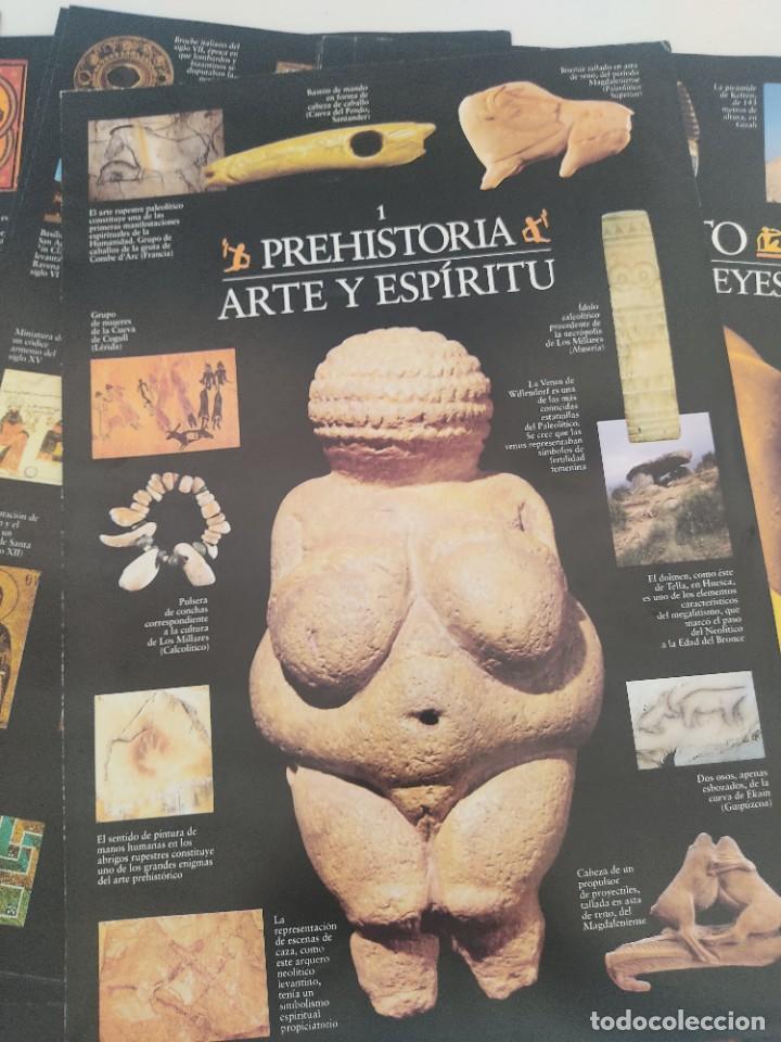 Arte: Escenarios de la Historia. El País Aguilar 1995. Carpeta con 21 cuadernos temáticos - Foto 3 - 271577058