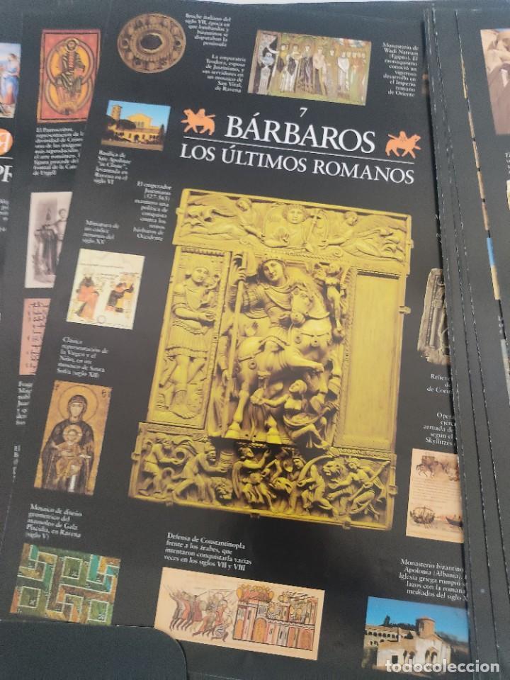 Arte: Escenarios de la Historia. El País Aguilar 1995. Carpeta con 21 cuadernos temáticos - Foto 4 - 271577058