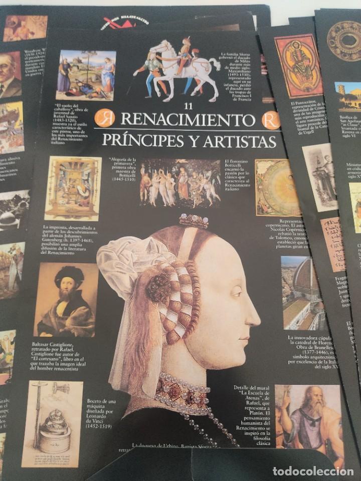Arte: Escenarios de la Historia. El País Aguilar 1995. Carpeta con 21 cuadernos temáticos - Foto 5 - 271577058
