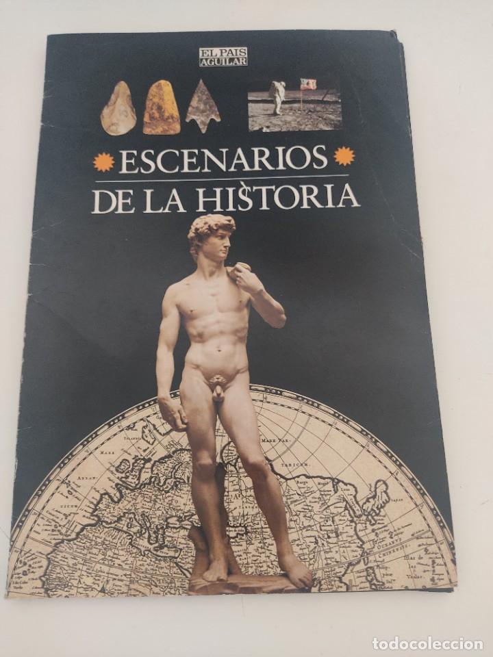ESCENARIOS DE LA HISTORIA. EL PAÍS AGUILAR 1995. CARPETA CON 21 CUADERNOS TEMÁTICOS (Arte - Láminas Antiguas)