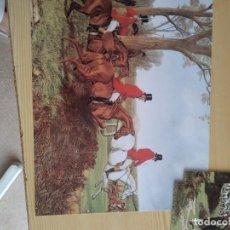 Arte: M-38 LAMINA DE HOMBRES CON CABALLO. Lote 273123143