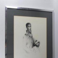 Art: LAMINA CUADRO DE DON QUIJOTE Y SANCHO PANZA ENMARCADA. Lote 275532518