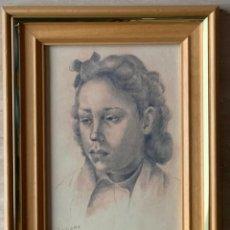 Arte: ANTIGUA LAMINA - EVARIST BASIANA ARBIELL. ENMARCADA MADERA CON MEDIDAS: 32 X 25,5.. Lote 275778458