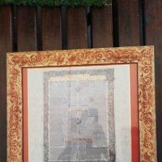 Art: TEXTOS JUDIOS 4 LAMINAS ENMARCADAS EN MADERA Y CRISTAL. COLORIDOS MUY VIVOS 39X39. Lote 276135428