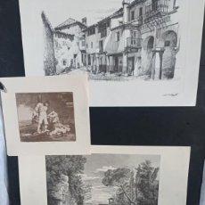Arte: 4 LAMINAS ANTIGUAS (GOYA Y 3 MAS). Lote 276262768