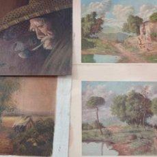 Arte: LOTE 4 OBRAS (2 LAMINAS Y 2 IMPRESION). Lote 276290373