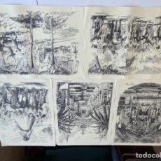 Arte: LAMINAS A PLUMILLA ROMERIA ALMONTE. Lote 277692923
