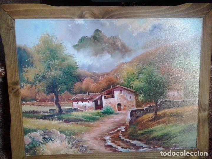 Arte: LOTE DE DOS BONITOS CUADROS LAMINAS SOBRE MADERA - Foto 2 - 280843698