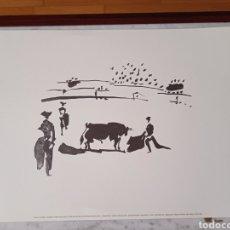 Arte: LOTE DE 7 LAMINAS PICASSO NUMERADAS 1996. MUSEO PICASSO BARCELONA. MOTIVOS TAURINOS.. Lote 284147058