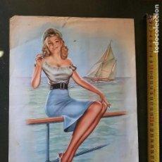 Arte: ANTIGUA LAMINA VINTAGE MODELO MARINERA, POP ART. Lote 285515163