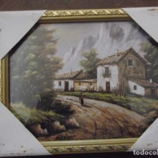 Arte: ANTIGUO CUADRO LAMINA CON CRISTAL DE 26,5 X 21 CM NUEVO. Lote 287075748