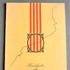 Arte: PRESIDENTS DE CATALUNYA. DIBUIXOS DE JOSEP CEBRIÀ.. Lote 287904923