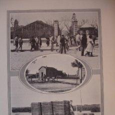 Arte: ESTACION DEL NORTE CASETA DEL MANZANARES EN 1906 C.1910. 24 X 16. Lote 288385928