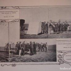 Arte: ESTACION TELEGRAFICA MILITAR MONTADA EN VILLALBA MADRID C.1910. 24 X 16. Lote 288386383