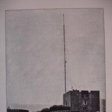 Arte: ESTACION TELEGRAFICA MILITAR EN LA ALCAZABA ALMERIA C.1910. 24 X 16. Lote 288386668
