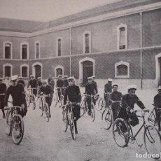 Arte: SECCION CICLISTA MILITAR ESTADO MAYOR CENTRAL C.1910. 13.5X 17.5. Lote 288386958