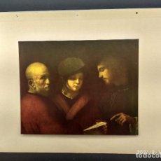 Arte: LAS TRES EDADES , DIE GALERIEN EUROPAS, PLANCHA A COLOR Nº 335. Lote 288430673