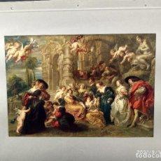 Arte: EL JARDIN DEL AMOR DE RUBENS, DIE GALERIEN EUROPAS, PLANCHA A COLOR Nº 550. Lote 288430763
