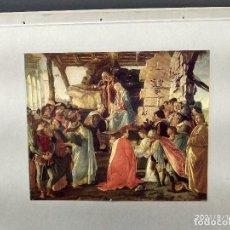 Arte: LA ADORACIÓN DE BOTICELLI, DIE GALERIEN EUROPAS, PLANCHA A COLOR Nº 367, NAVIDAD. Lote 288431043