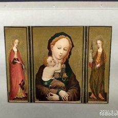 Arte: MADONNA DEL MAESTRO SANTA VERONICA, DIE GALERIEN EUROPAS, PLANCHA A COLOR Nº 653. Lote 288431423