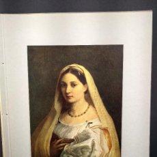 Arte: LA VELATA DE RAFAEL, DIE GALERIEN EUROPAS, PLANCHA A COLOR Nº 341. Lote 288432118