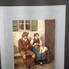 Arte: FEIERABEND DE FRAN VON DEFREGGER, PLANCHA A COLOR Nº 45 DE DEUTSCHE MALEREI DES 19. Lote 288433613