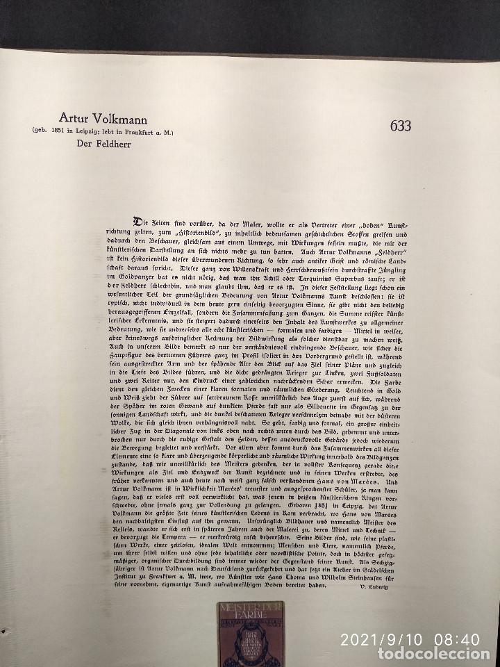 Arte: El general de Artur Volkmann, plancha nº 633 de Meister der Farbe 1912, - Foto 3 - 288434513