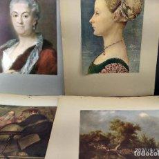 Arte: LOTE 4 PLANCHAS, DIE GALERIEN EUROPAS, PLANCHAS A COLOR. Lote 288435198