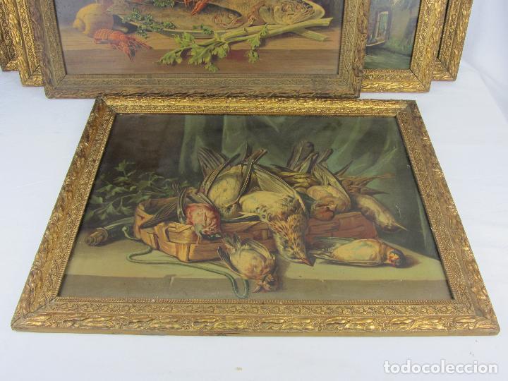 Arte: Seis estampas enmarcadas final de siglo XIX, principio del XX - Foto 5 - 288457393
