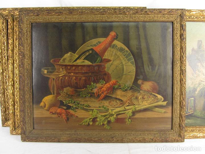 Arte: Seis estampas enmarcadas final de siglo XIX, principio del XX - Foto 8 - 288457393