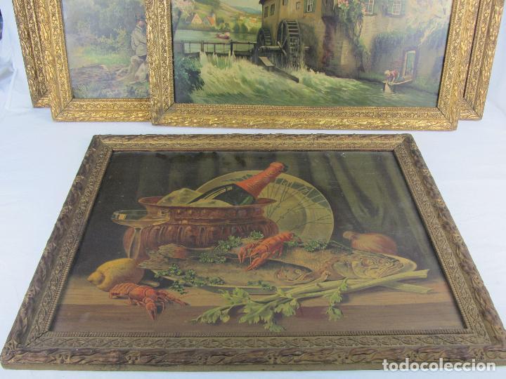 Arte: Seis estampas enmarcadas final de siglo XIX, principio del XX - Foto 10 - 288457393