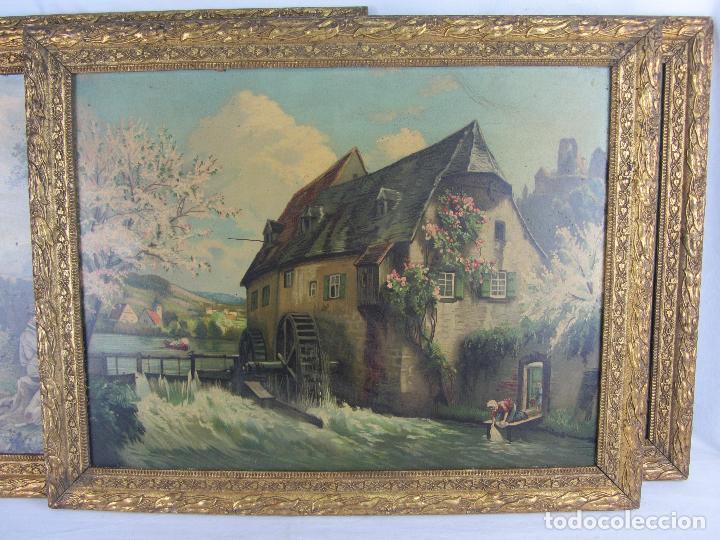 Arte: Seis estampas enmarcadas final de siglo XIX, principio del XX - Foto 12 - 288457393