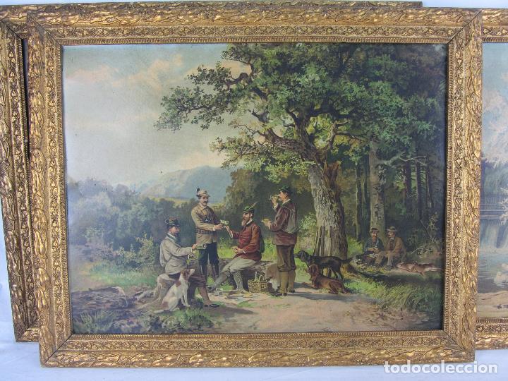 Arte: Seis estampas enmarcadas final de siglo XIX, principio del XX - Foto 15 - 288457393