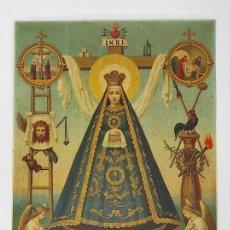 Arte: FRIDOLIN LEIBER (1853-1912) - ANTIGUA LÁMINA - VIRGEN. Lote 288660483