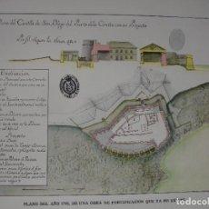 Arte: PLANO CASTILLO DE SAN DIEGO LA CORUÑA EN 1792 25X17. Lote 289312613