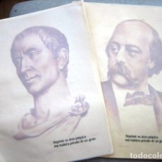 Arte: LÁMINAS DE JULIO CESAR Y FLAUBERT. Lote 296031633