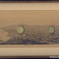 Arte: CUADRO DE LAMINA ANTIGUA DE MALAGA DEL AÑO 1876 MEDIDAS CON MARCO 31 CM X 25 CM PESO 610. Lote 296825738