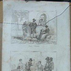 Arte: 1232.- GRABADO ,,,ESCENAS CALLEJERAS,,, FIRMA ILEGIBLE. Lote 26022381