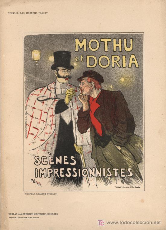 STEINLEN – LITOGRAFÍA 1897 - MOTHU ET DORIA (Arte - Litografías)